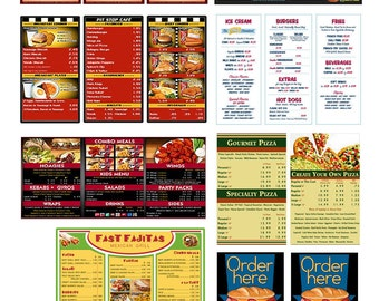 1:25 G scale model restaurant diner cafe menu boards signs