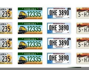 scale model car Nebraska license tag plates