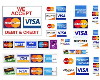 1:25 G scale model Credit Card Signs