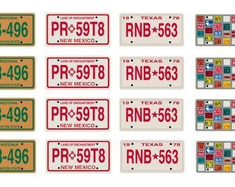 scale model Convoy semi truck license tag plates