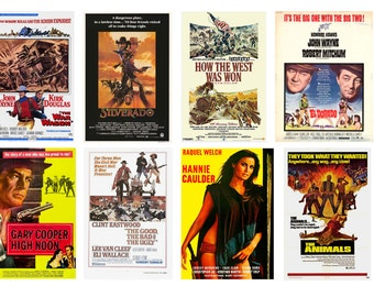 1:25 G scale model western movie theater posters