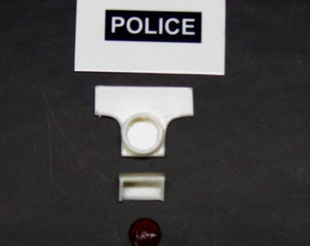 1:25 scale model resin 1930s New York City police sign red light