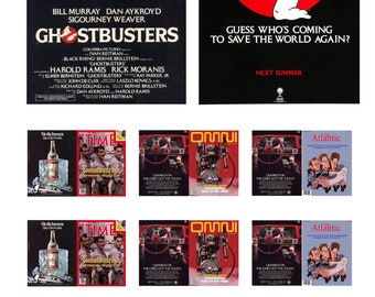 1:25 scale model Ghostbusters movie posters license plates magazines set