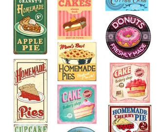 scale vintage bakery store shop signs posters