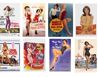 1:25 G scale model classic beauties movie theater posters