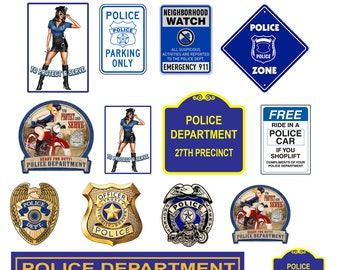 scale model police department signs