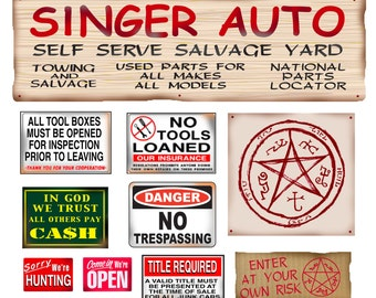 Singer Salvage Junk Yard Signs  poster salvage yard