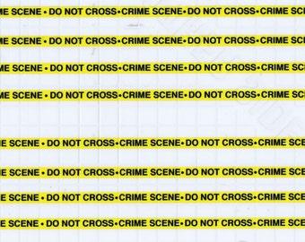 1:25 scale model police crime scene tape