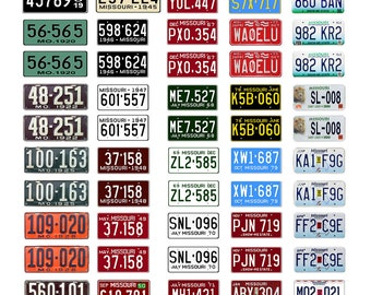 scale model car assorted USA license plates Missouri state tags  1/18 1/25 1/43 1/64