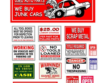 Junk Yard Signs  poster salvage yard