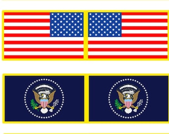 1:25 scale model Presidential Limousine flags