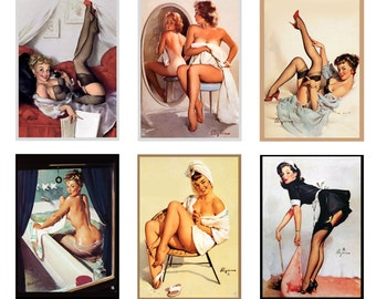scale model vintage pin up posters