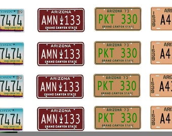 scale model car Arizona license tag plates