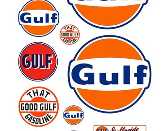 1:87 HO scale model Gulf gasoline station gas signs