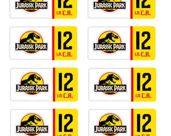 scale model Jurrasic Park truck jeep license tag plates