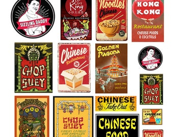 1:25 G scale model Chinese restaurant Signs