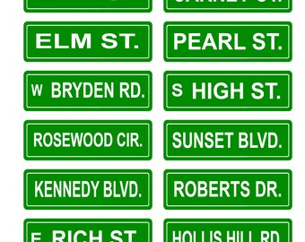 1:25 G scale model street name signs