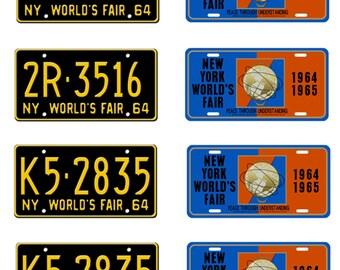 scale model 1964 1965 New York World's Fair license plates