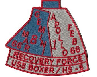 USS Boxer NASA Gemini 8 Apollo 1 space program US Navy ship recovery force patch