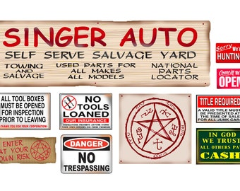 1:18 Singer Salvage Junk Yard Signs  poster salvage yard