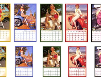 1:25 G scale model toy 1959 Napa pin up calendar
