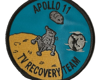 NASA Apollo 11 TV Recovery Team space program US Navy ship recovery force patch