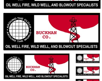 miniature scale model car Buckman Co. oil well firefighters The Hellfighters
