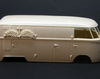 1:24 scale model resin Volkswagen hearse VW funeral bus conversion kit