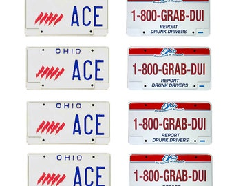 scale model Ohio State Highway Patrol police car license tag plates