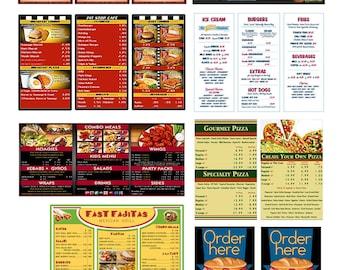1:25 G scale model restaurant diner cafe menu boards signs