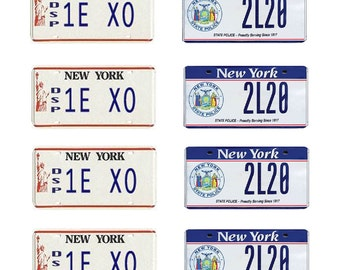 scale model New York State Police car license tag plates