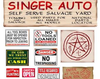 Singer Salvage Junk Yard Signs  poster salvage yard