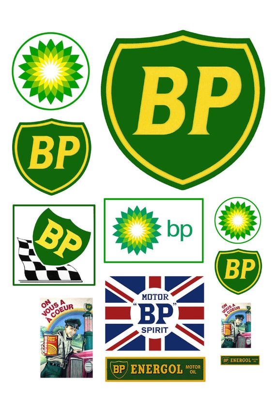 Scale Model Bp Gas Station Signs British Petroleum Gasoline Etsy