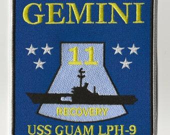 USS Guam NASA Gemini 11 space program US Navy ship recovery force patch