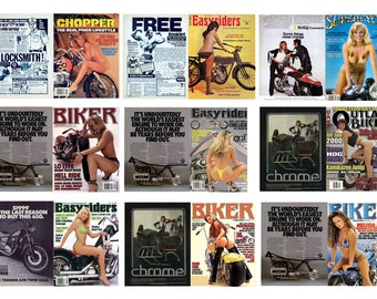 1:25 scale model toy car miniature motorcycle biker magazine assortment