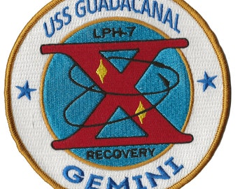 USS Guadacanal NASA Gemini 10 space program US Navy ship recovery force patch
