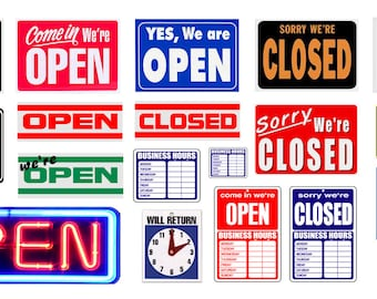 1:25 G scale model open closed Signs