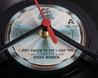 """Stevie Wonder - 'I Just Called To Say I Love You' 7"""" Record Clock"""