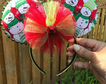 Christmas Mickey Mouse Ears, Christmas Mickey Ears, Mickey Ear Headband, Disney Accessories, Christmas at Disney