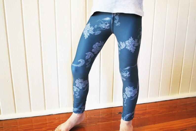 leggings for girls Design by OcoDesign 2T 5T 6T 7-4ways stretches 3T Girl/'s Leggings 4T Dragon print