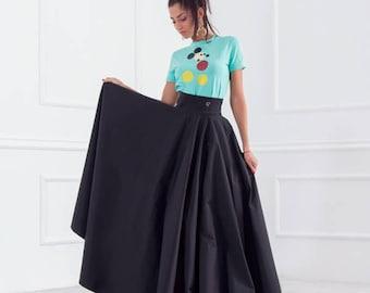 4b46ce8f8d3 Long Skirt  Skirt Closh  Black Skirt  Elegant Skirt  Skirt With Pockets   Beautiful Skirt  High Waisted Skirt  Woman Skirt  Friends Fashion