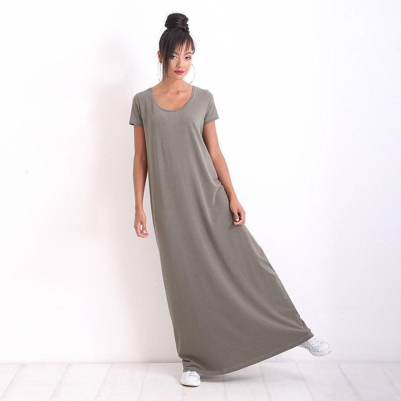 84531685ff6c Plus Size Dress/ Casual Dress/ Maxi Dress/ Short Sleeve Dress/ | Etsy