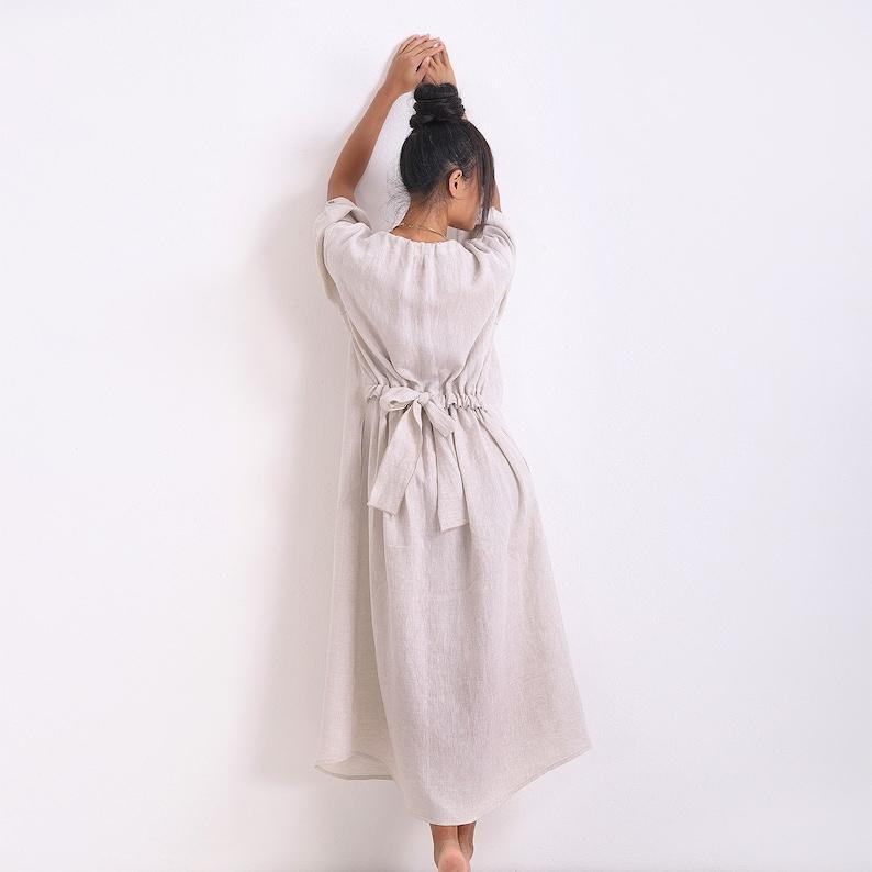 Boho Maxi Dress/ Linen Plus Size Dress/ Summer Dress/ Kaftan   Etsy