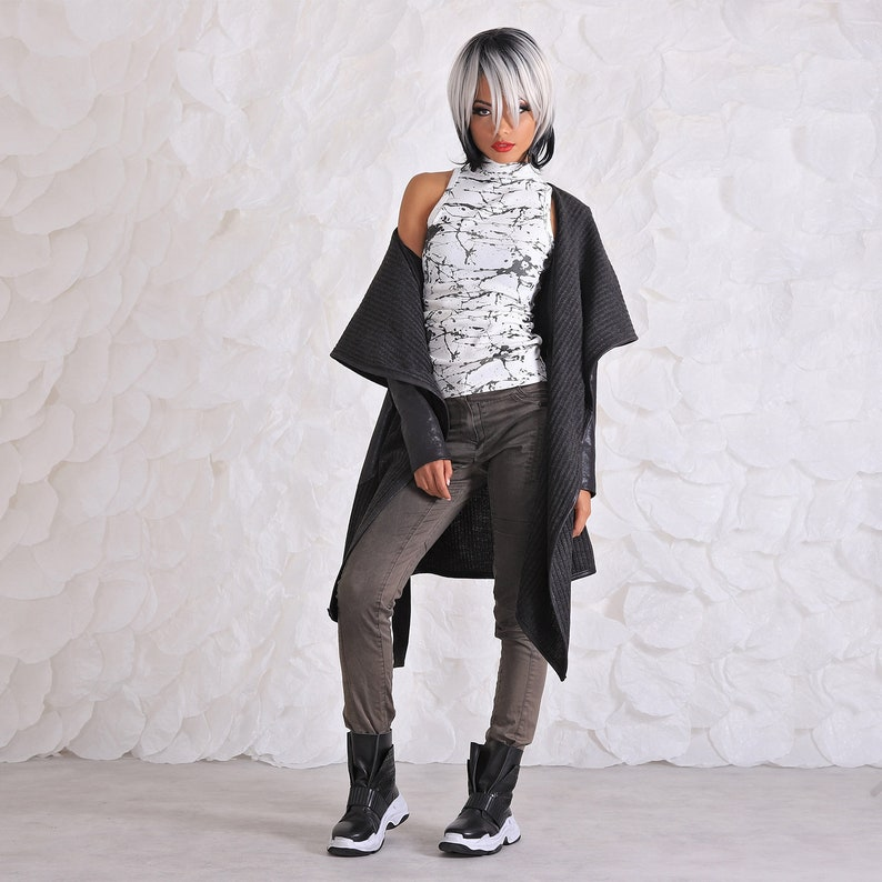 Plus Size Clothing Womens Wool Vest Wool Jacket Cardigan