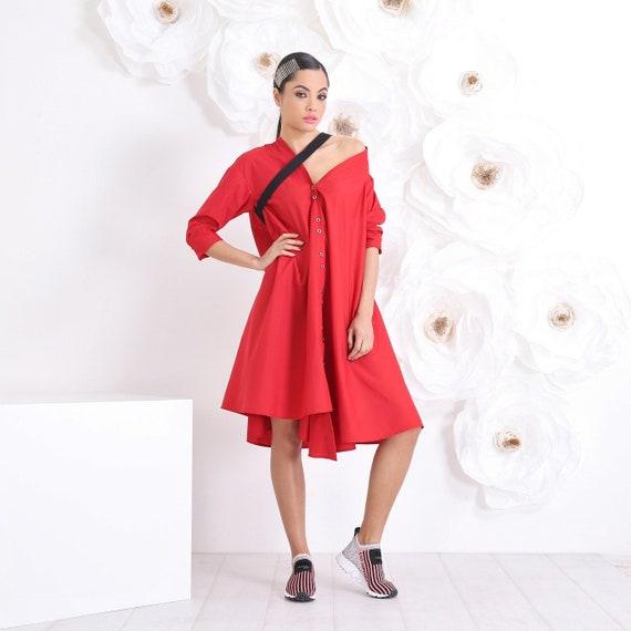 Plus Size Dress, Maxi Red Dress, Black Dress