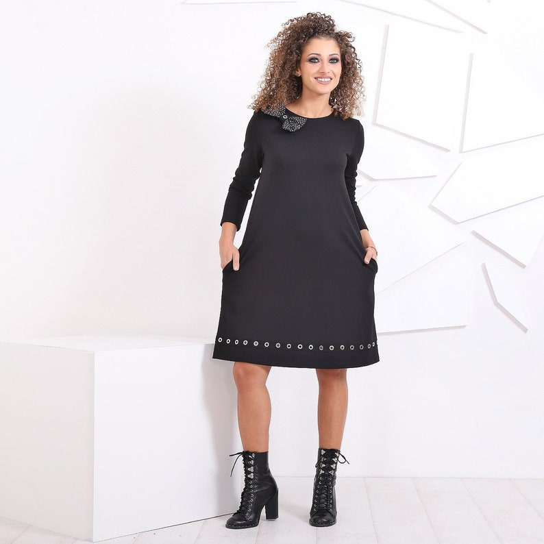 d0e9990a448c Loose Dress With Pockets   Formal Dress  Short Dress  Casual