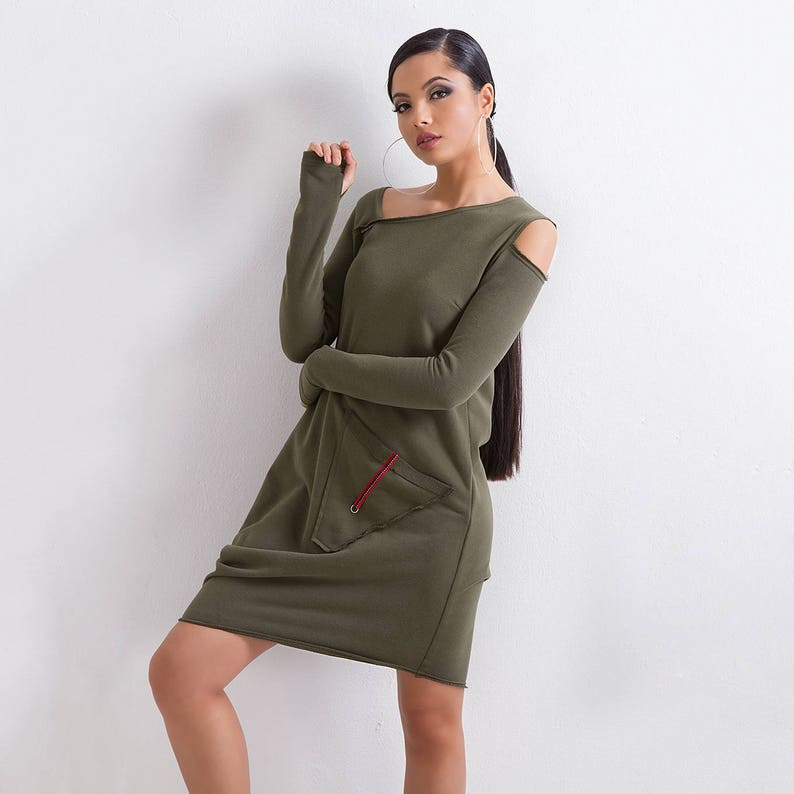 Knee Length Asymmetrical Dress