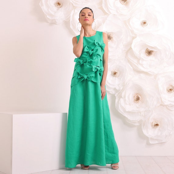 Linen Dress, Plus Size Dress, Womens Maxi Dress, Plus Size Clothing