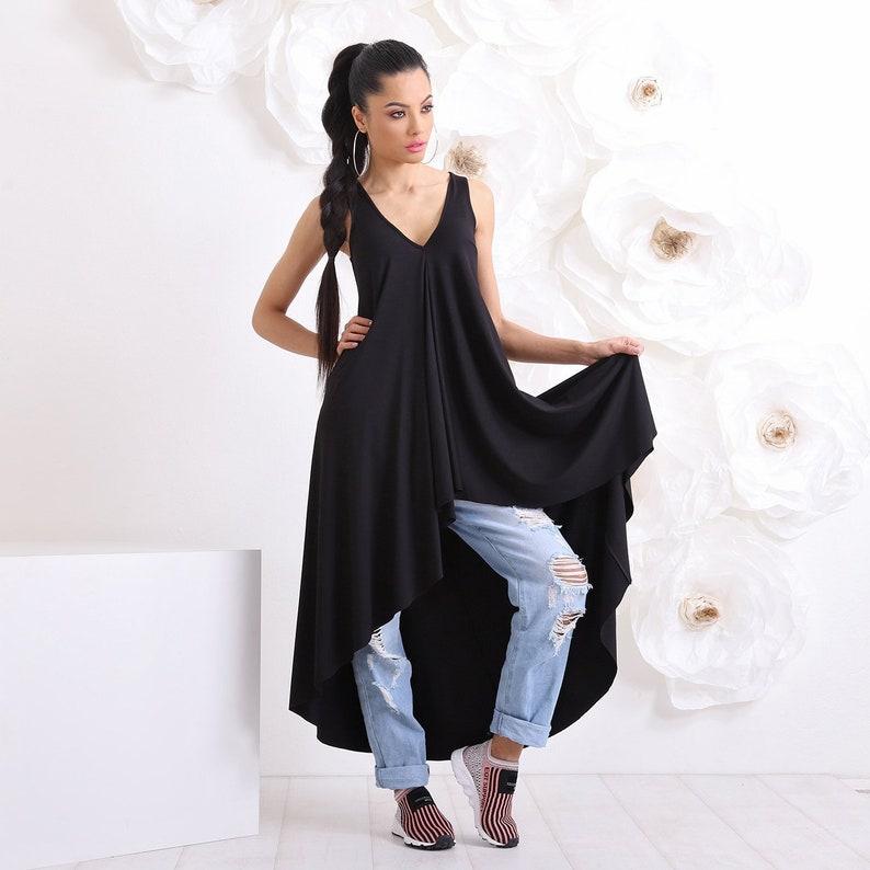 Black Plus Size Tunic, Womens Clothing, Tunic Dress, Tunic Top