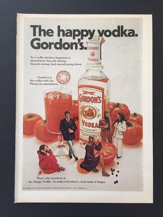 Gordon S Vodka With Tomato Juice 1972 Vintage Ad Alcohol Etsy